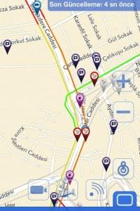 Stau-Tankstellen-Parkplätze-Istanbul-App